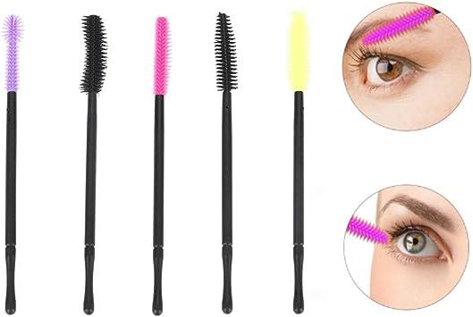 mascara Lot de 200/pinceaux pour cils jetables maquillage -/Multicolore -/9,1/x/0,6/cm Accessoire pour extension de cils sourcils