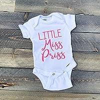 Baby Girl Onesie Romper Bodysuit Short Sleeves Little Miss Priss