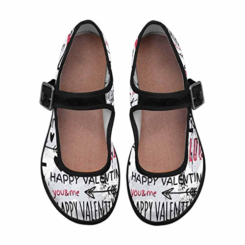 InterestPrint Womens Comfort Mary Jane Flats Casual Walking Shoes Multi 2 hrEgOySt