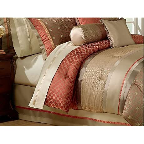 Waterford Linens Bogden Collection King Bedskirt Cinnabar By Waterford Linens