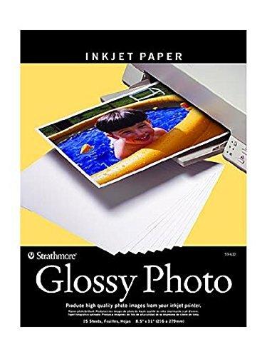 Strathmore Heavy Weight Inkjet STR-59-632 Glossy Digital Photo Paper, 8.5 by 11