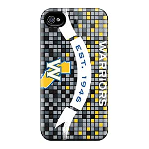 JasonPelletier Iphone 4/4s Protective Hard Cell-phone Cases Custom Lifelike Golden State Warriors Pattern [qbe4008fThc]