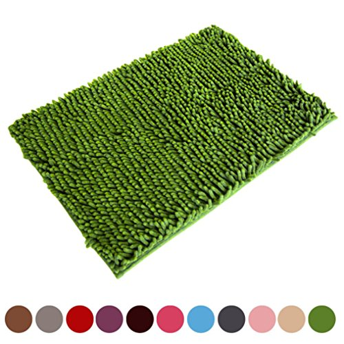 Absorbent Bath Mat Bathroom Shower Rugs Carpet (Green ) (11 Contemporary Carpet)