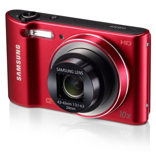 Samsung WB30F 16.2MP Smart WiFi Digital Camera with 10x Optical Zoom and 3.0 LCD Screen (Red) (OLD MODEL) [並行輸入品]   B075P5L34P