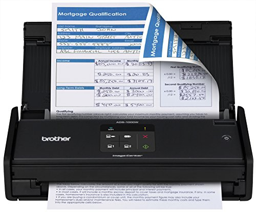 Brother ADS1000W Compact Color Desktop Scanner with Duplex and Wireless Networking by Brother