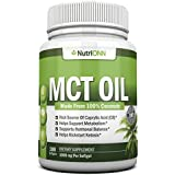 MCT Oil - 3000mg Per Serving - 180 Softgels - Made From 100% Organic Coconuts - Non GMO, Cold Pressed, Paleo Friendly Capsules - Great For Weight Loss, Mental Focus, Energy Boost and Kickstarting Keto