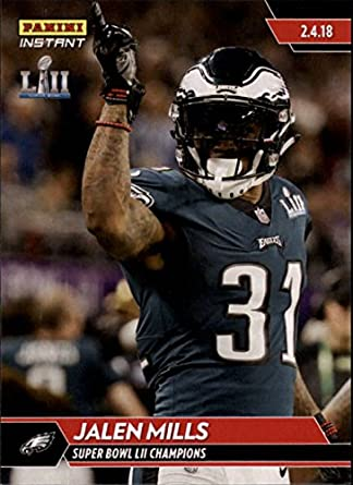 bf6fb881a65 Amazon.com: 2018 Panini Eagles Super Bowl LII #540 Jalen Mills NFL Football  Trading Card: Collectibles & Fine Art