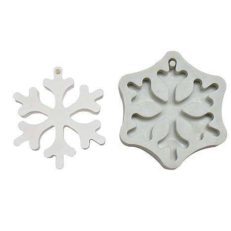 kingpo Molde de Silicona Bricolaje Pastel, Copo de Nieve de Navidad árbol de Navidad líquido
