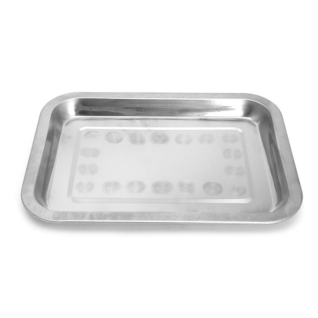 BIlinl Contenitore per Alimenti per Barbecue BBQ Vassoio grigliato in Acciaio Inox Rettangolare