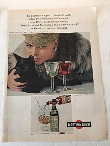 1966 Martini & Rossi Vermouth Magazine Print Advertisement