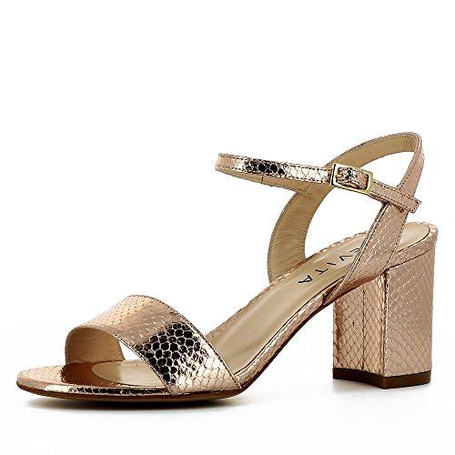Optique Shoes Vieux Imprimé Serpent Evita Ambra Sandales Rose Femme wXdPnzcqU