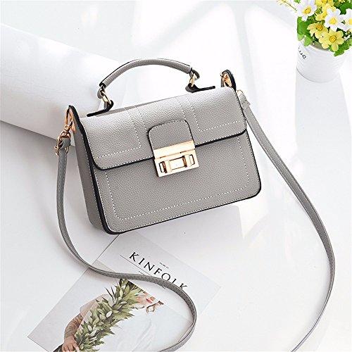 Bag gifts Holiday Satchel Single MSZYZ Bag Grey Shoulder Female New PHq7Zw