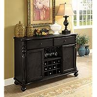 Siobhan II Dark Gray Solid Wood Server by Furniture of America