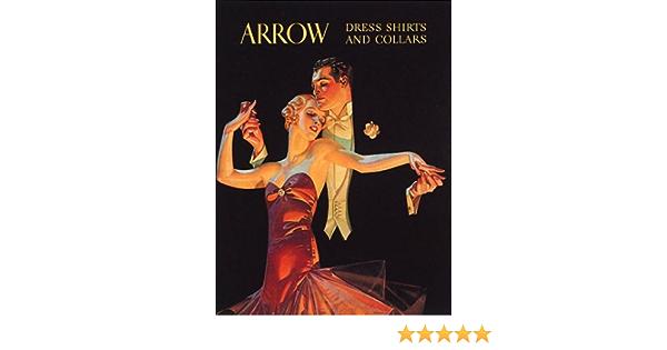Fashion Couple Dancing Arrow Dress Shirts Collars Romantic Vintage Poster Repro