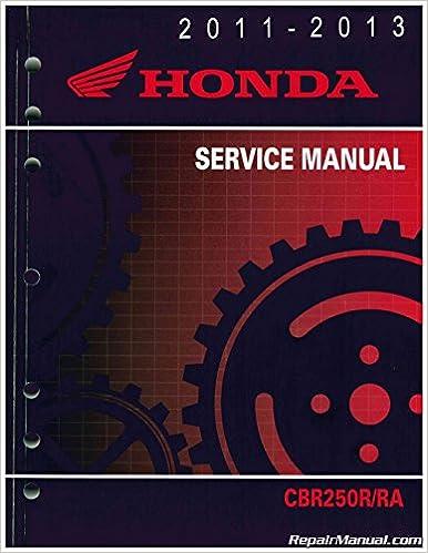 61kyj02 2011-2013 cbr250r/ra motorcycle service manual honda: manufacturer:  amazon com: books