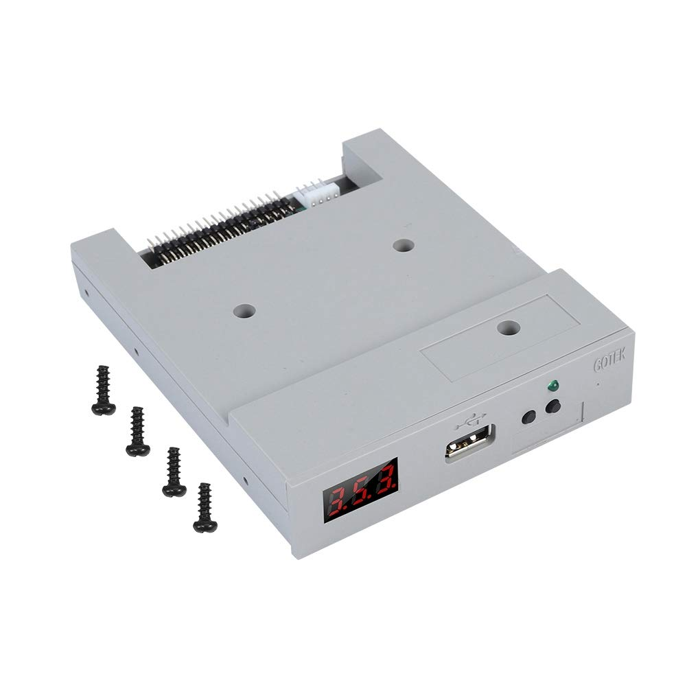 AYNEFY Drive Emulator, SFR1M44-U100 3.5inch 1.44MB USB SSD Floppy Drive Emulator Handy Use Plug to Operate