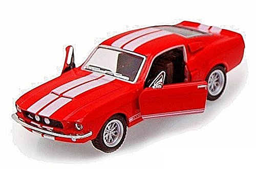 Scale 1/38 1967 Ford Shelby Mustang GT-500 diecast car RED ()