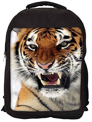 Snoogg Tiger Hunger Laptop Rucksack Gelegenheitsschulrucksack