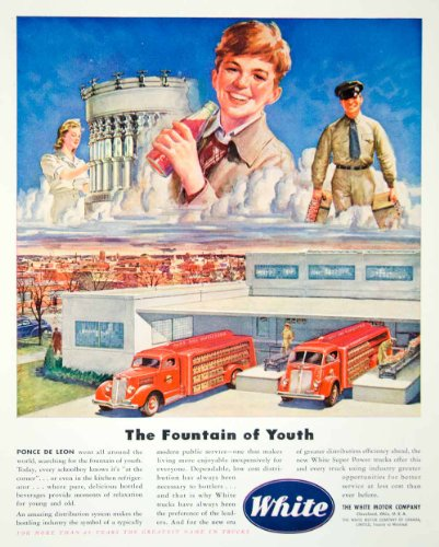1946 Ad White Motor Company Cleveland Ohio Child Travel Soda Truck Car Drive Art - Original Print Ad (Art Drive Fine)