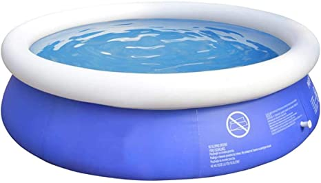 Qntich 6ft Swimming Pools For Kids Easy Set Above Ground Pool Unlimit Summer Fun Inflatable Swimming Pool At Home Amazon Ca Patio Lawn Garden