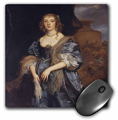 3dRose BLN Paintings of Kings, Queens and Royalty - Lady Anne Carr, Countess of Bedford, c. 1638 by Anthony Van Dyck - MousePad (mp_170052_1) ()