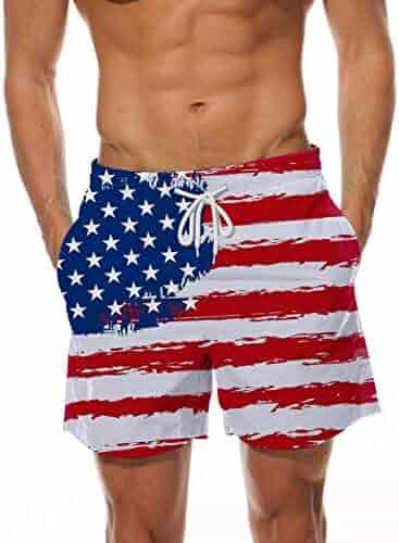 21b179ec7b AIDEAONE Mens Swim Trunks Quick Dry Beach Board Shorts Waterproof Swim  Shorts Bathing Suits with Mesh