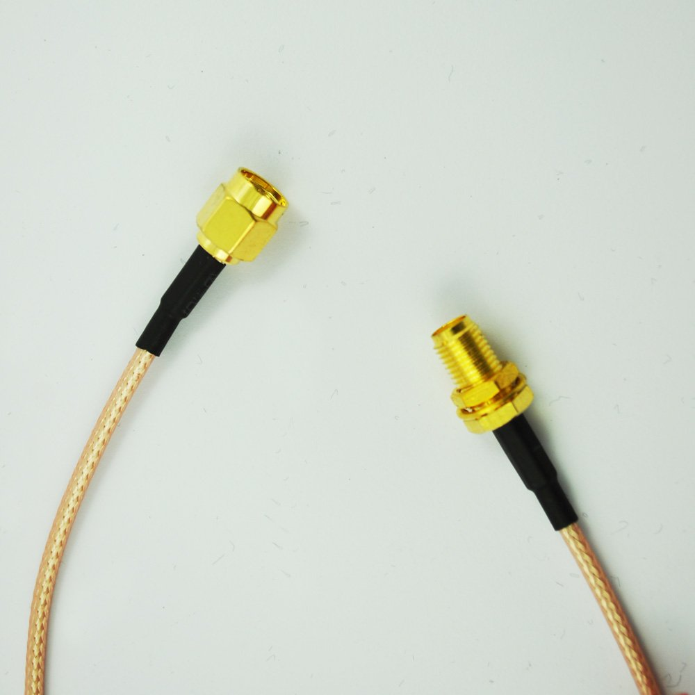 12.4 Cable RF Coaxial Pigtail SMA Macho a SMA Hembra R SODIAL