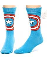 Bioworld Captain America w/ Wings Crew Socks