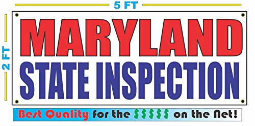 MARYLAND STATE INSPECTION All Weather Full Color Banner - Outlet Stores Maryland