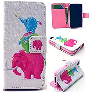 For iPhone 4 4S,iPhone 4 Case Wallet Leather,Candywe Beautiful PU Flip Leather Case Cover With Stand For iPhone 4 4S 002