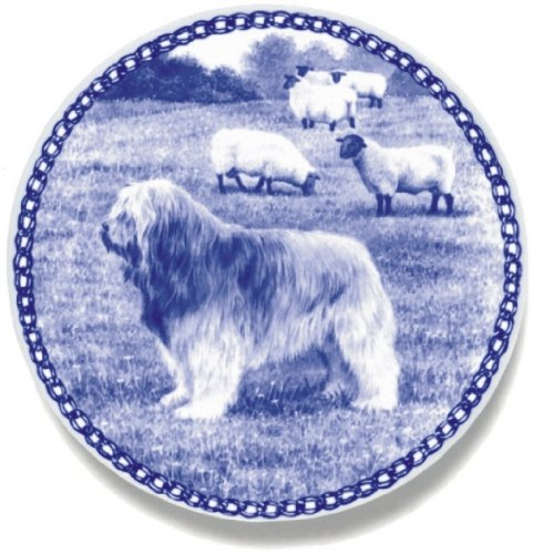 Catalan Sheepdog Lekven Design Dog Plate 19.5 cm  7.61 inches Made in Denmark NEW with certificate of origin PLATE  7424
