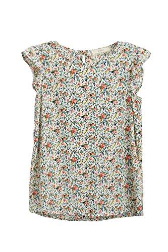 Big Girls Kids Fashion Flutter Sleeved Blouse Ruffle Tee Top USA GT81 - Shirt Sleeved Cap