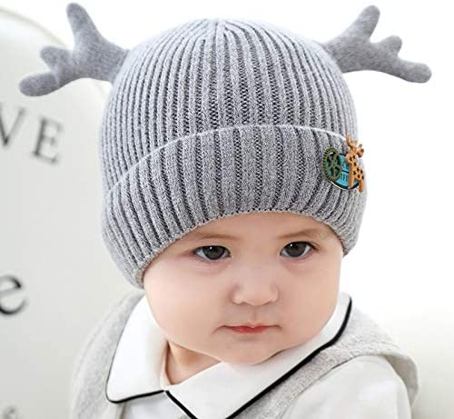 Tiiolis Sombrero de Lana bebé Lana Invierno varón niños Cornamenta ...