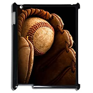 Custom Cover Case with Hard Shell Protection for Ipad2,3,4 case with baseball lxa#243476