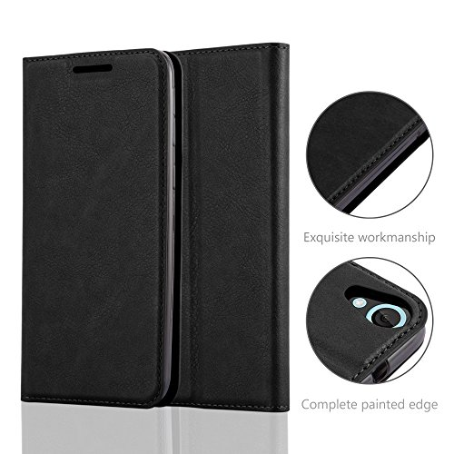 Cadorabo Case works with HTC DESIRE 820 Book Case in NIGHT BLACK (Design INVISIBLE CLOSURE) – with Magnetic Closure, Stand Function and Card Slot – Wallet Case Etui Cover PU Leather by Cadorabo (Image #4)