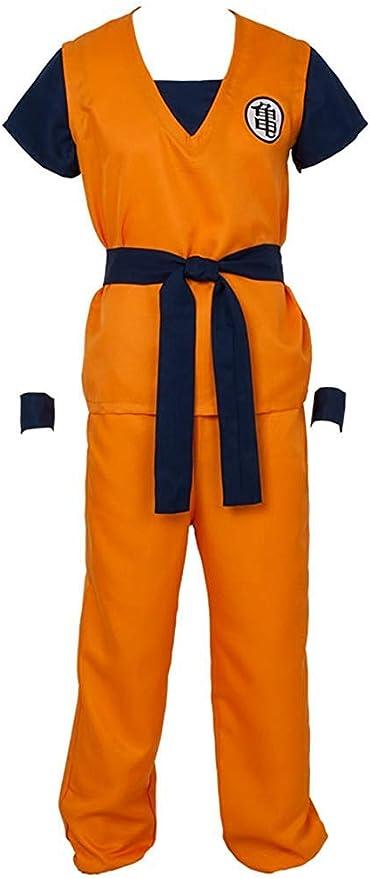 Cosplay Life Disfraz de Saiyajin de Dragon Ball Z Goku   Conjunto completo Camisa Pantalones Cinturón Pulseras