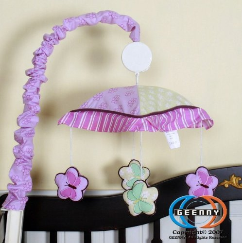 GEENNY Musical Mobile, Boutique Girl Teddy Bear