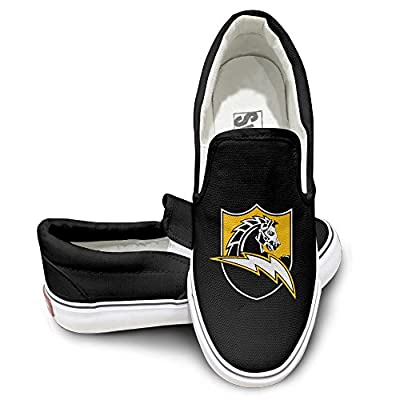 NF18G Chargers Football Team Fashion Canvas Sneaker Black