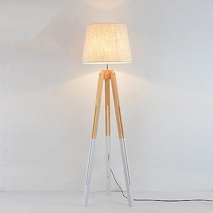 MMM-HC Nordic lámparas de pie de Madera Maciza Salón ...