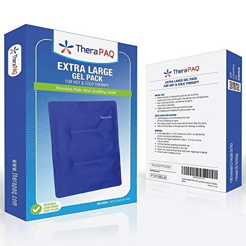 Large Gel Ice Pack by TheraPAQ: Reusable Hot & Cold Pack for Your Hips, Shoulders, Back, Arms, Legs, Knees - Refreezable & Microwavable Gel Pad for Pain Relief & Faster Injury Recovery (XL 14'' X 11'') by TheraPAQ (Image #2)
