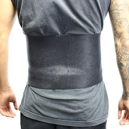 Lastworld 10 Black Sports Slimmer Belt Back Support Waist Trimmer-Exercise Belt-Gym Tummy Belt