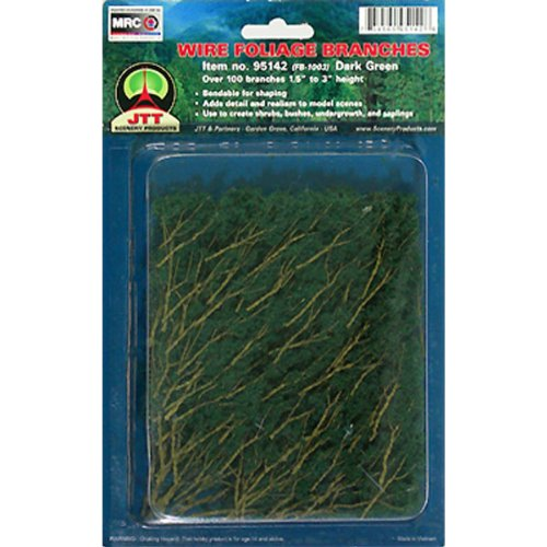 JTT Scenery Products Foliage Branches, Dark Green