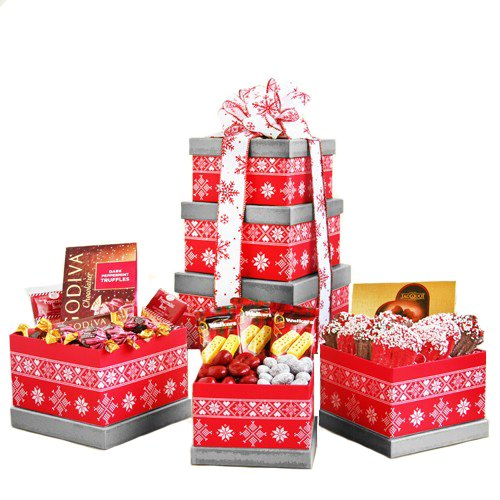 He's Making a List   Christmas Gift Tower
