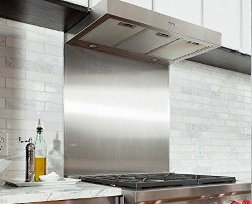 Satin Stainless Steel Splashback Guard Plate 1000 mm x 600 mm Ironmongery Now