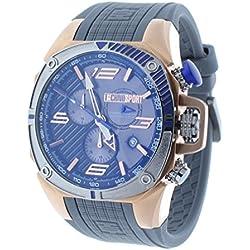 Technosport TS-100-6F1 Mens Watch Formula 1 Gray & Blue Swiss Chronograph Rose Gold Case