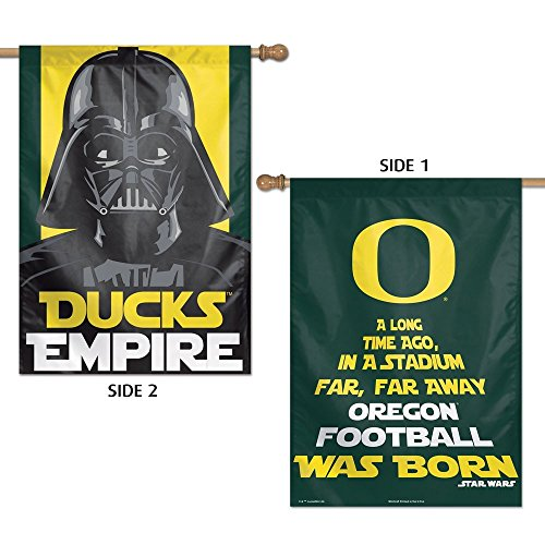 WinCraft NCAA University of Oregon 15841215 2 Sided Vertical Flag, 28