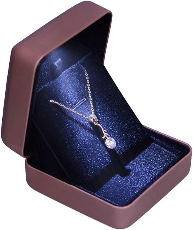 Jewelry Box Caja de Anillo de Matrimonio Caja de joyería iluminada de Gama Alta Anillo de Diamante Pulsera Pulsera Collar Caja de Regalo (Solo Caja)