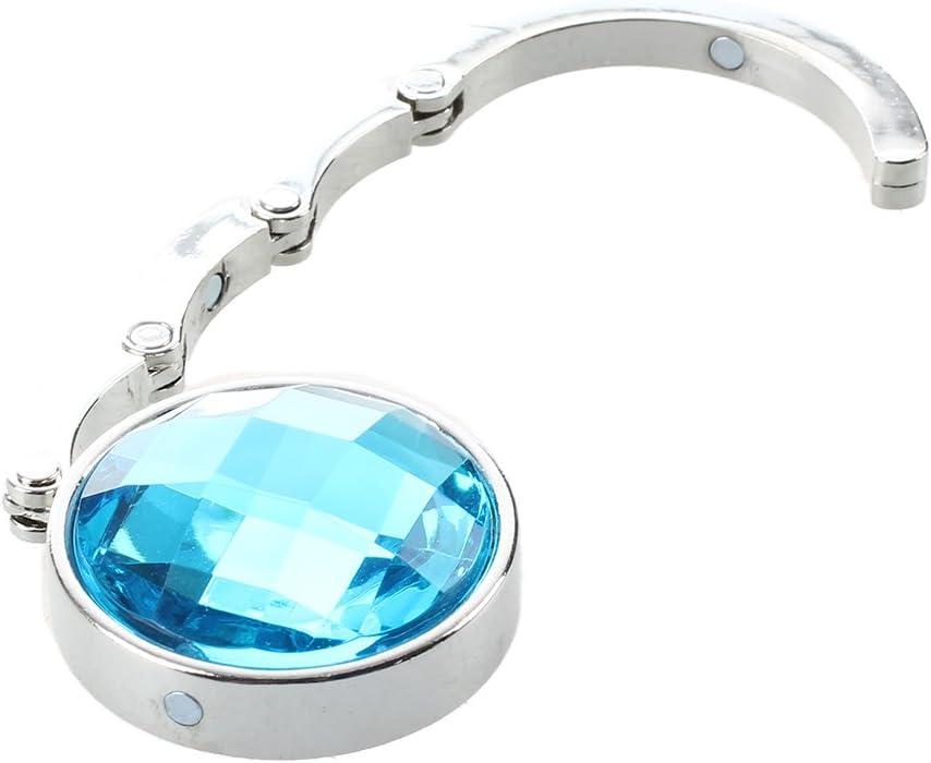 Faltender Geldbeutel Handtasche Halter Kristall Taschenhaken ufhaenger fuer Frauen R Tuerkisches Blau Naliovker Naliovker