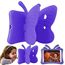 Eastchina® Non-toxic 3D Cartoon Light Weight EVA Shockproof Drop Proof Stand Case For iPad Air | iPad Air2 | iPad Pro 9.7 (iPad 5/6/Pro 9.7, Purple)