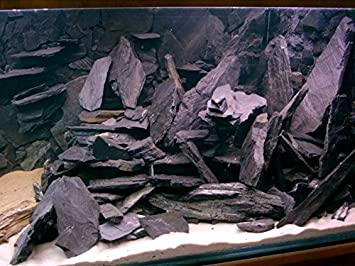 Piedra de lámina negra natural de 5 kg para una roca de ...